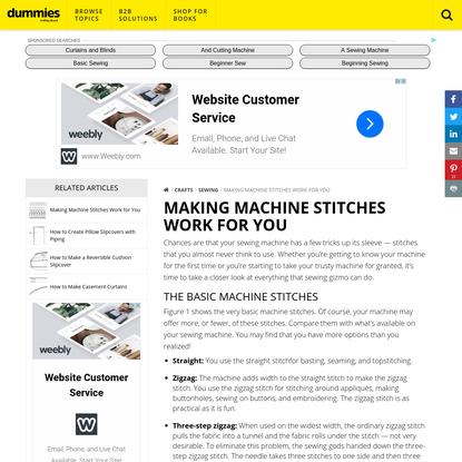 Making Machine Stitches Work for You - dummies