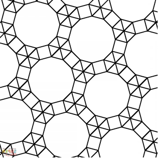 Dodecagon Triangle And Square Tessellation