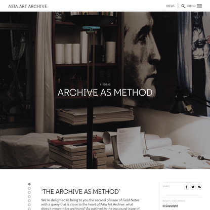 Archive as Method