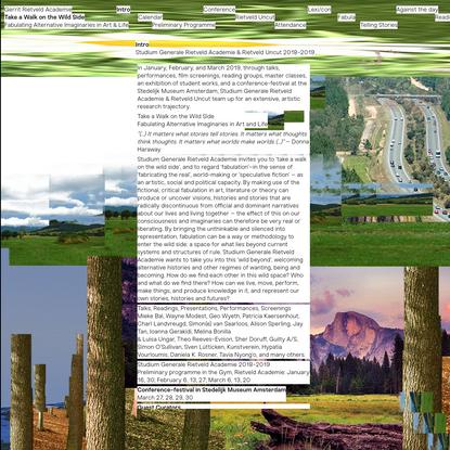 Studium Generale | Take a Walk on the Wild Side | GRA + Rietveld Uncut