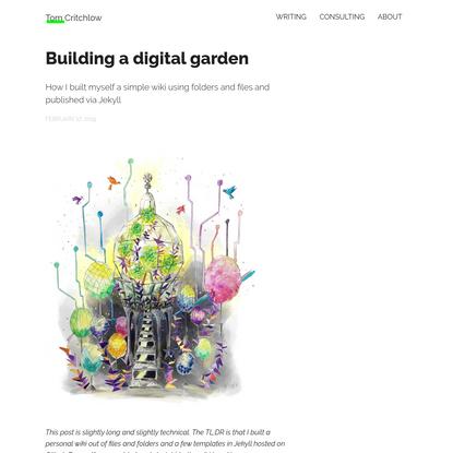 Building a digital garden