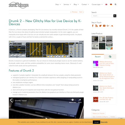 Drumk 2 - New Glitchy Max for Live Device by K-Devices