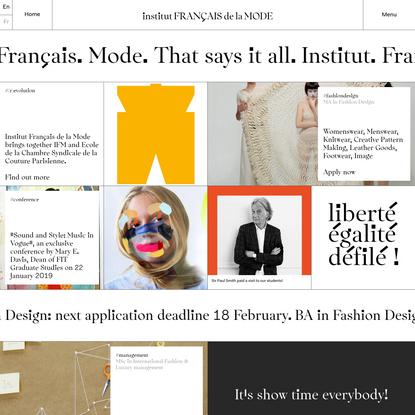 Institut Français de la Mode | Paris fashion school