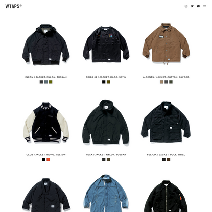 2018-2nd AUTUMN / WINTER EX.37 | WTAPS VISUALUPARMORED