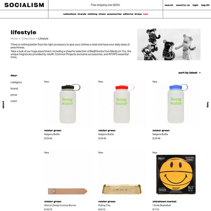 Lifestyle: from toys to bags - Slam Jam Socialism