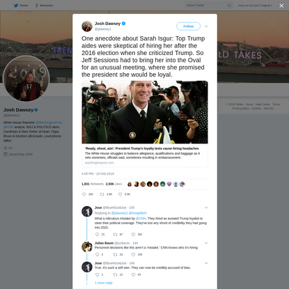 Josh Dawsey on Twitter