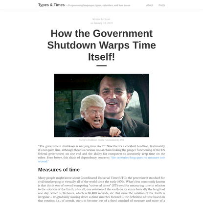How the Government Shutdown Warps Time Itself!