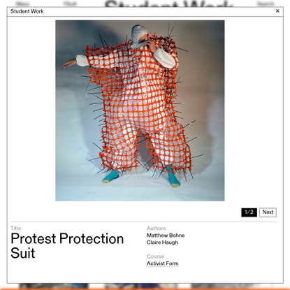 Protest Protection Suit - Yale Architecture
