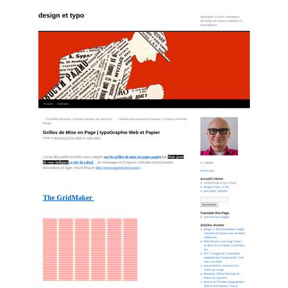 Grilles de Mise en Page | typoGraphie Web et Papier