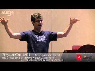 Surge 2013 Speaker: Bryan Cantrill