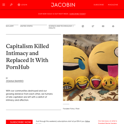 Capitalism Killed Intimacy and Replaced It With PornHub