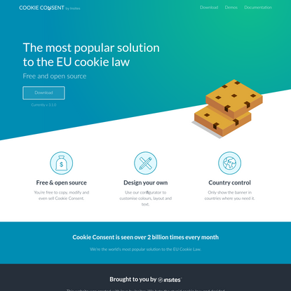 Cookie Consent by Insites - The most popular solution to the EU cookie law