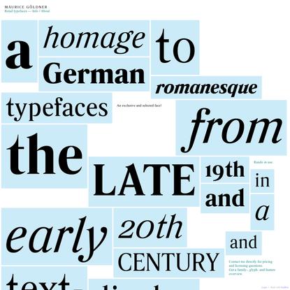 Rando - Maurice Göldner: type design, -development, research