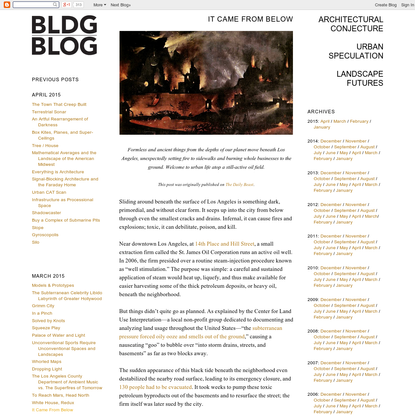 BLDGBLOG: It Came From Below