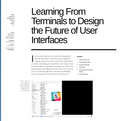 Learning From Terminals to Design the Future of User Interfaces