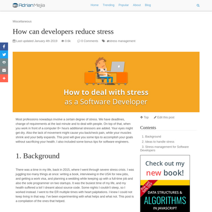 How can developers reduce stress