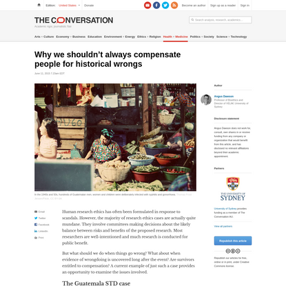 Why we shouldn't always compensate people for historical wrongs