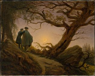 g-d-friedrich-two-men-contemplating-the-moon - 1825
