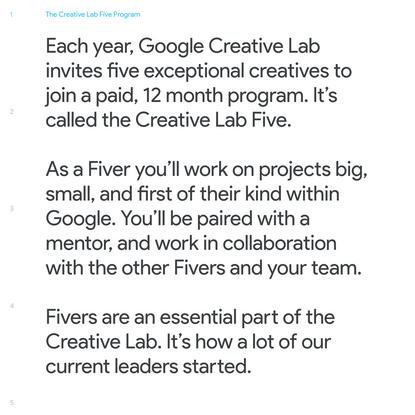 Google Creative Lab Five