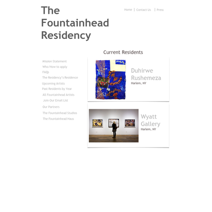 residency home page