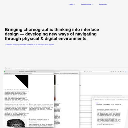 Choreo-Graphic Design
