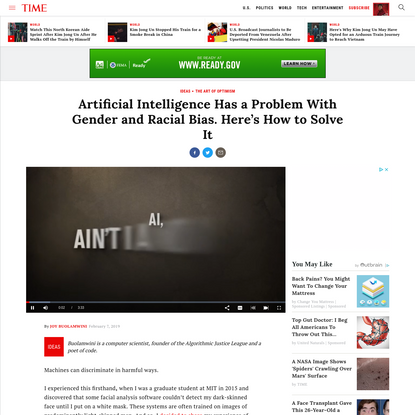 Artificial Intelligence Has a Problem With Gender and Racial Bias