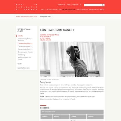 Contemporary Dance 1