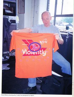 Violently