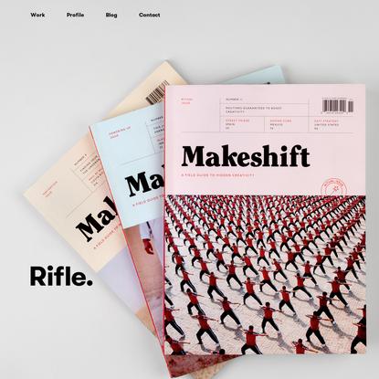 Editorial design, Branding, Packaging, Web Design | Rifle