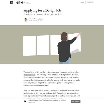Applying for a Design Job - This Also - Medium