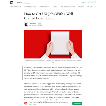 How to Get UX Jobs With a Well Crafted Cover Letter