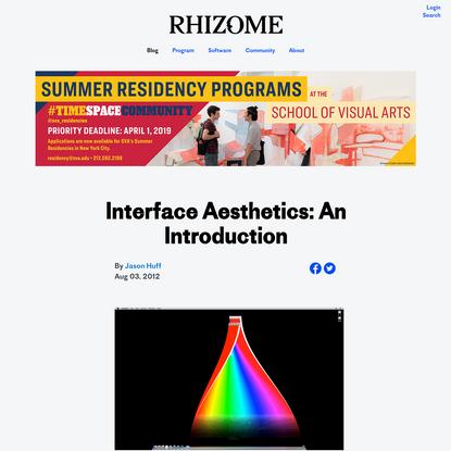 Interface Aesthetics: An Introduction