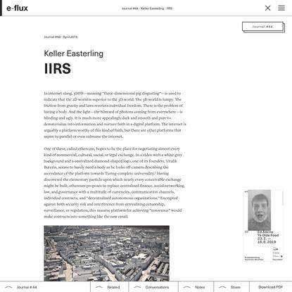 IIRS - Journal #64 April 2015 - e-flux