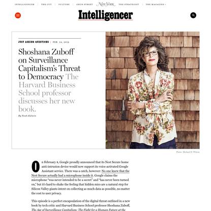 Shoshana Zuboff Talks Surveillance Capitalism's Threat to Democracy