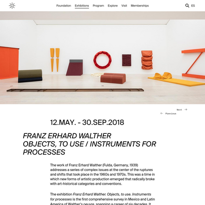 FRANZ ERHARD WALTHER OBJECTS, TO USE / INSTRUMENTS FOR PROCESSES - Museo Jumex
