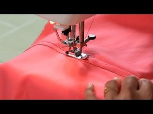 How to Sew a Flat Felled Seam | Sewing Machine
