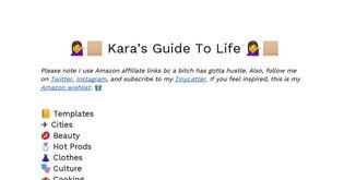 💁🏼 Kara's Guide To Life