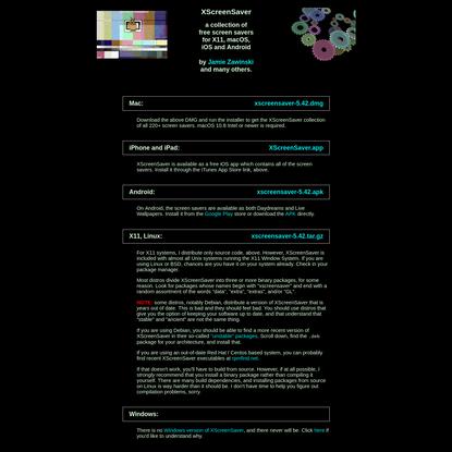 XScreenSaver: Download