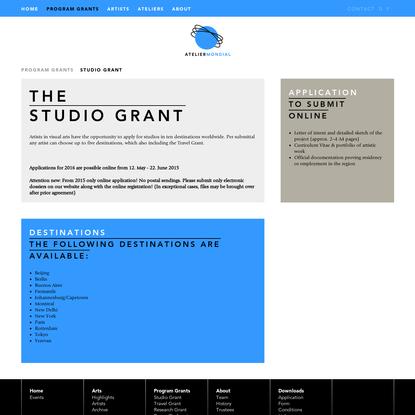 Atelier Mondial - Studio Grant