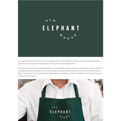 New Visual Identity for Old Elephant House by Studio South - BP&O