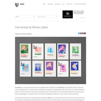 New Branding for Casa Bonay by Mucho - BP&O