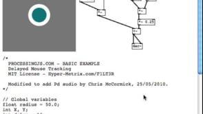 Web Audio Data API - Pure Data and Processing.js