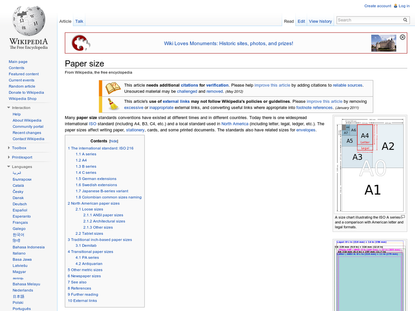 Paper size - Wikipedia, the free encyclopedia
