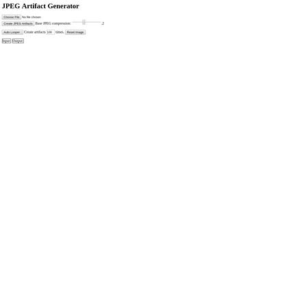 JPEG Artifact Generator