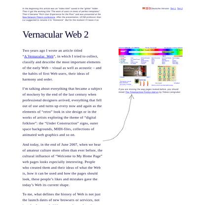 Olia Lialina: Vernacular Web 2