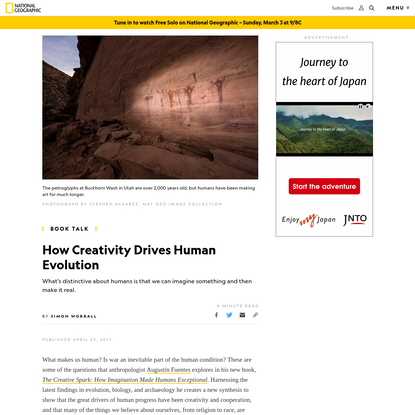 How Creativity Drives Human Evolution