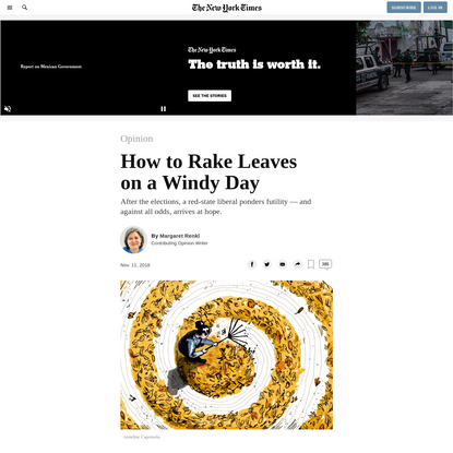 Opinion   How to Rake Leaves on a Windy Day