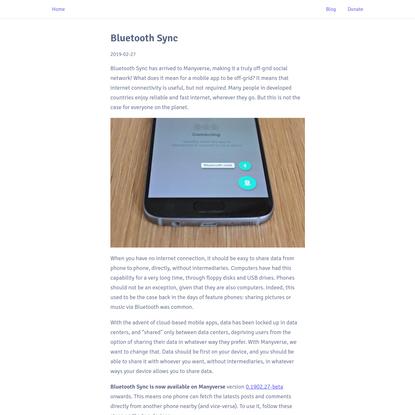 Bluetooth Sync