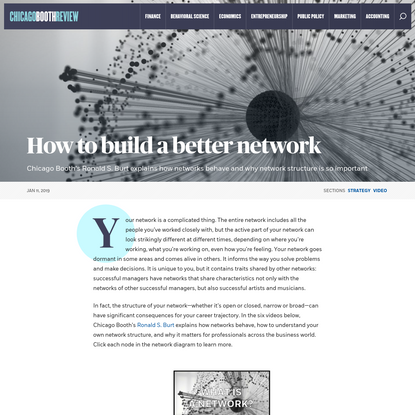 How to build a better network