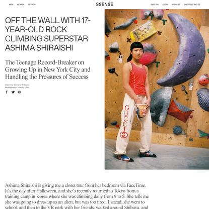 Off the Wall with 17-Year-Old Rock Climbing Superstar Ashima Shiraishi